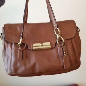 Coach No E1126-18277 Brown Leather Satchel Bag